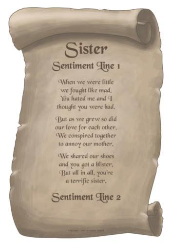 Denisblogs I Love You Poems For Sisters