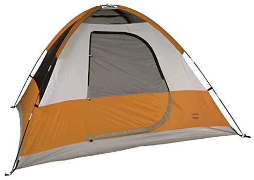 Cedar Ridge Granite Falls 4-Person Tent - orange and white tent