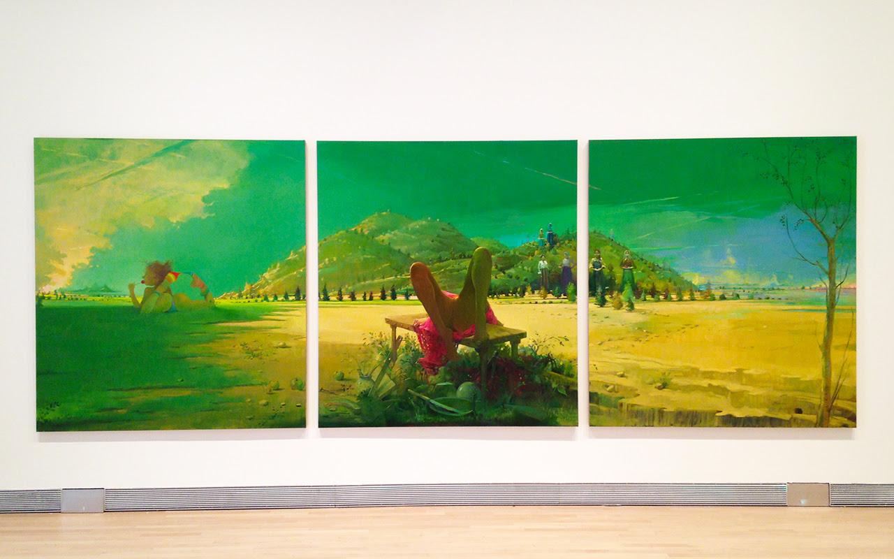 "Lisa Yuskavage, ""Triptych"" (2011)"