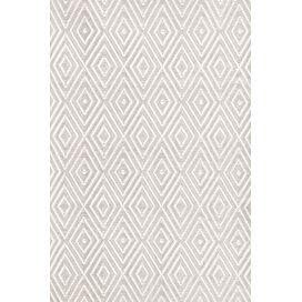 Diamond Taupe & White Indoor/Outdoor Area Rug