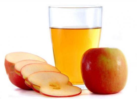 zumo manzana diluido