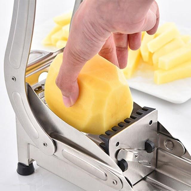 Beste Kopen Rvs Franse Fry Cutter Machine Thuis Keuken Groente Aardappel Snijmachine HG99 Goedkoop