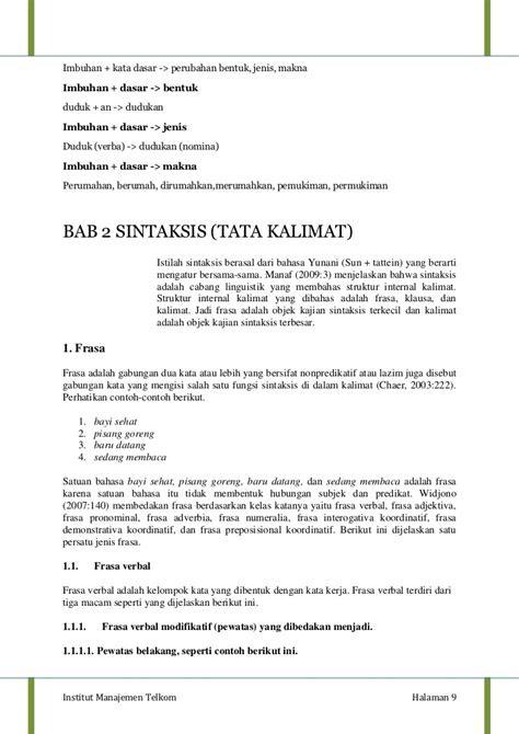 tata bahasa indonesia mindmapping  landasan teori