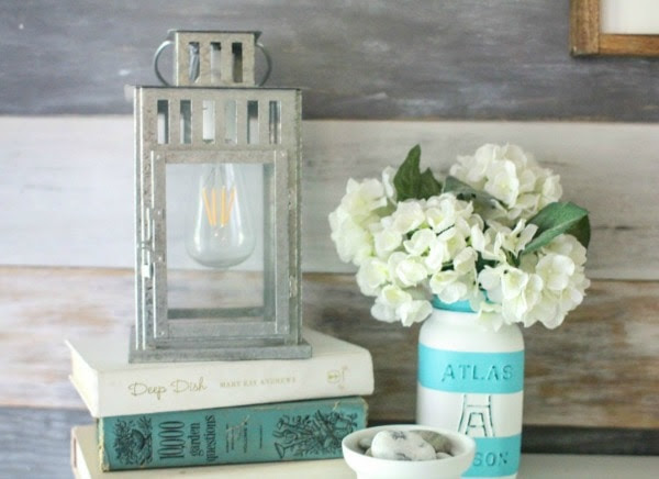 lantern lamp thrifty upcycle