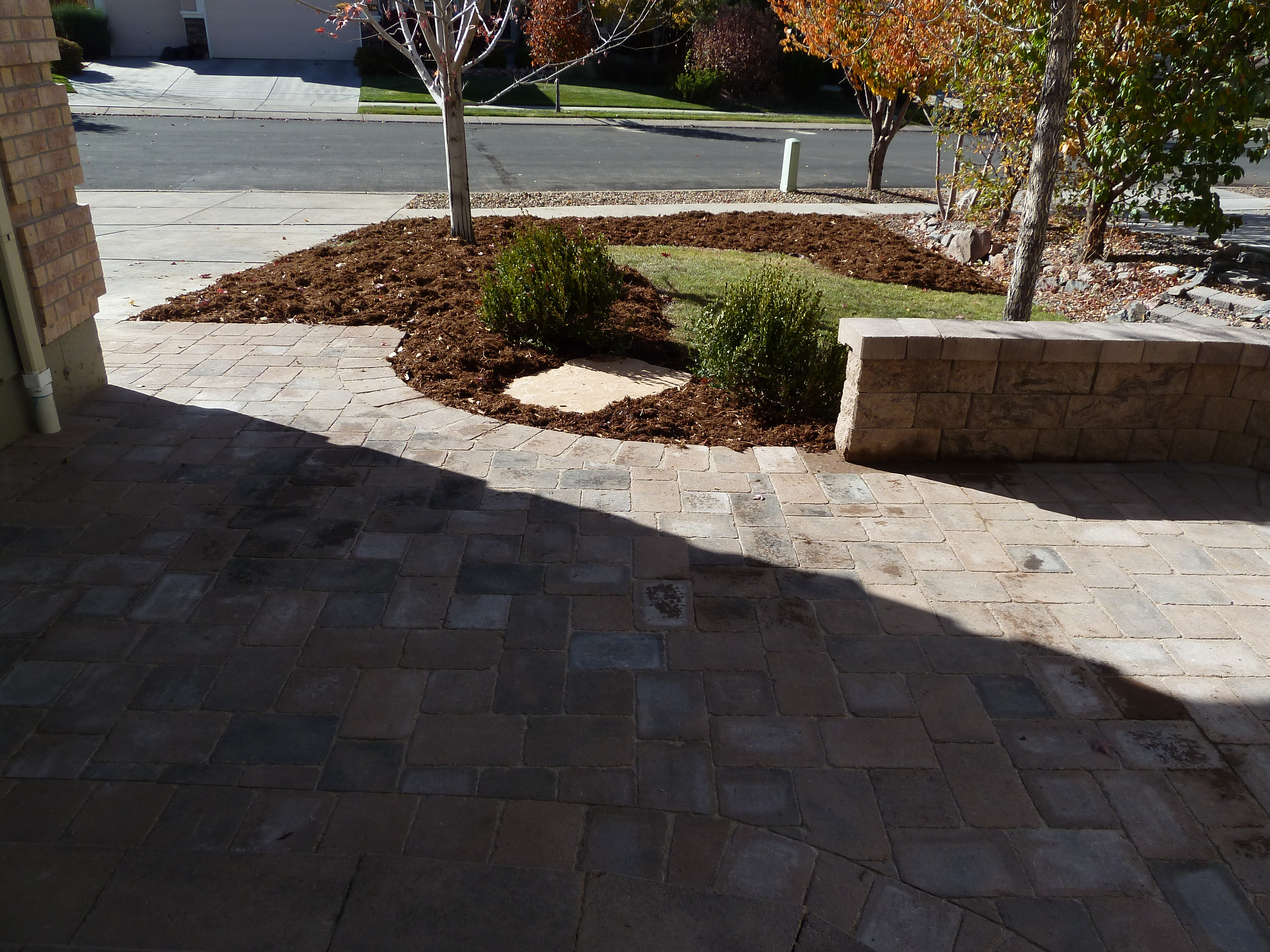 Creating a new paver patio and stoop | Bella Giardino Landscape ...