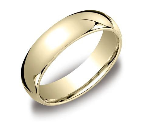 Comfort Fit Men's 14k Gold Wedding Band   Elegant Rings