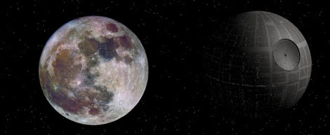 supermoon real color death star starwars