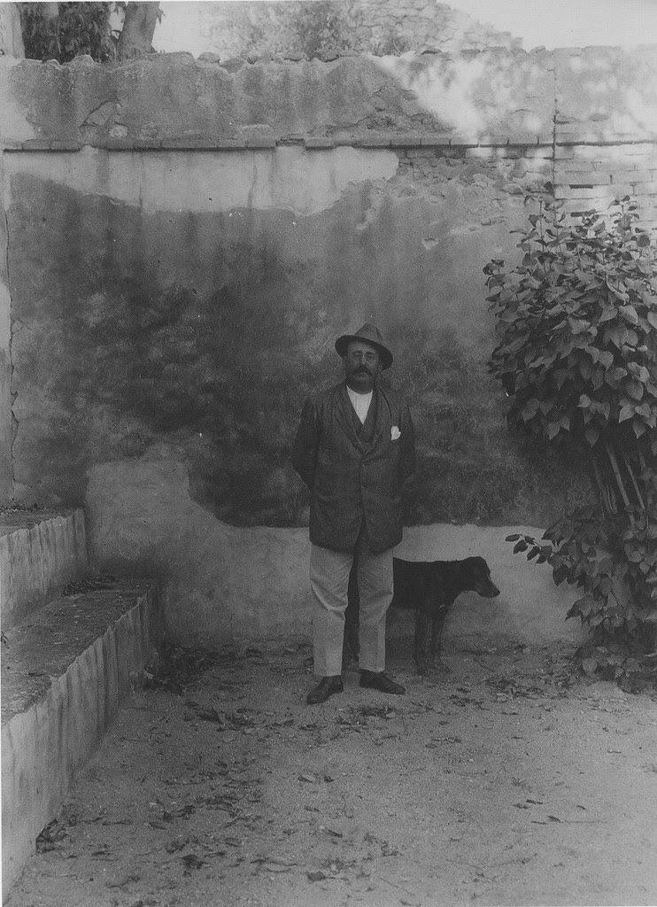 El Conde de Romanones en el Palacio de Buenavista en 1915. Foto de Anna M. Christian. The Hispanic Society of America