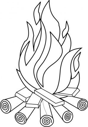 Api Garis Seni Vektor Clip Art Vektor Gratis Download Gratis