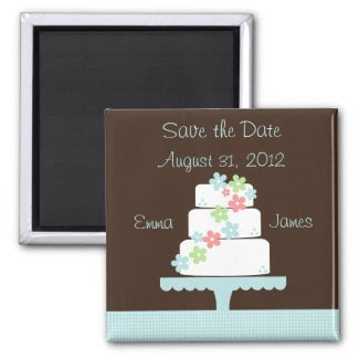 Sweet Cake Save the Date Magnet magnet