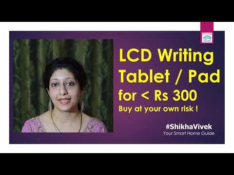 LCD Writing Pad/Tablet Demo: How e-writer tablets works