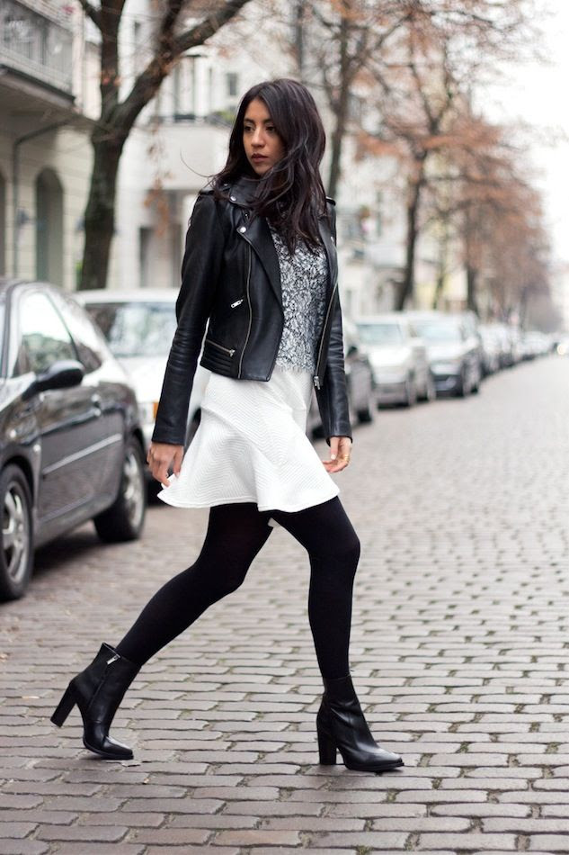 Le Fashion Blog How To Wear A Skirt In Winter Wavy Hair Leather Jacket Lace Top White Skirt Tights Ankle Boots Not Your Standard Kayla photo Le-Fashion-Blog-How-To-Wear-A-Skirt-In-Winter-Wavy-Hair-Leather-Jacket-Lace-Top-White-Skirt-Tights-Ankle-Boots-Not-Your-Standard-Kayla.jpg