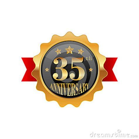 35th Wedding Anniversary Invitation Editable Vector
