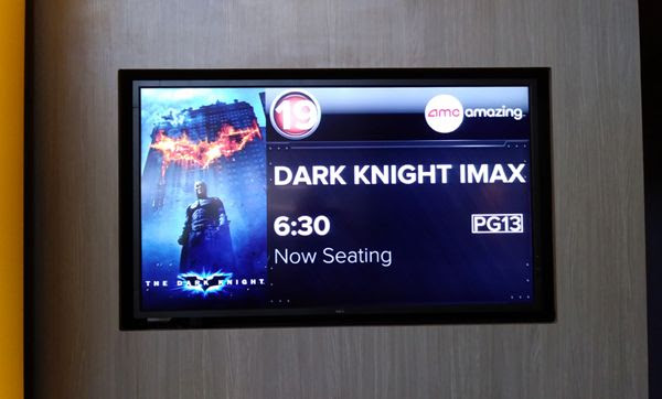 Getting ready to watch THE DARK KNIGHT again on IMAX at Universal Cinema in CityWalk...on September 1, 2018.