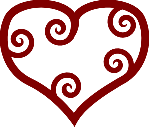 free clipart heart spiral