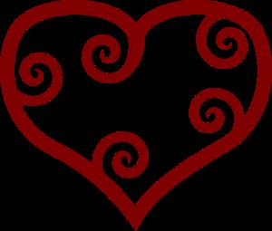 free clipart heart spiral