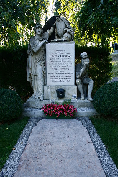 Photograph of the grave of François Sebastien Charles Joseph de Croix, Count of Clerfayt