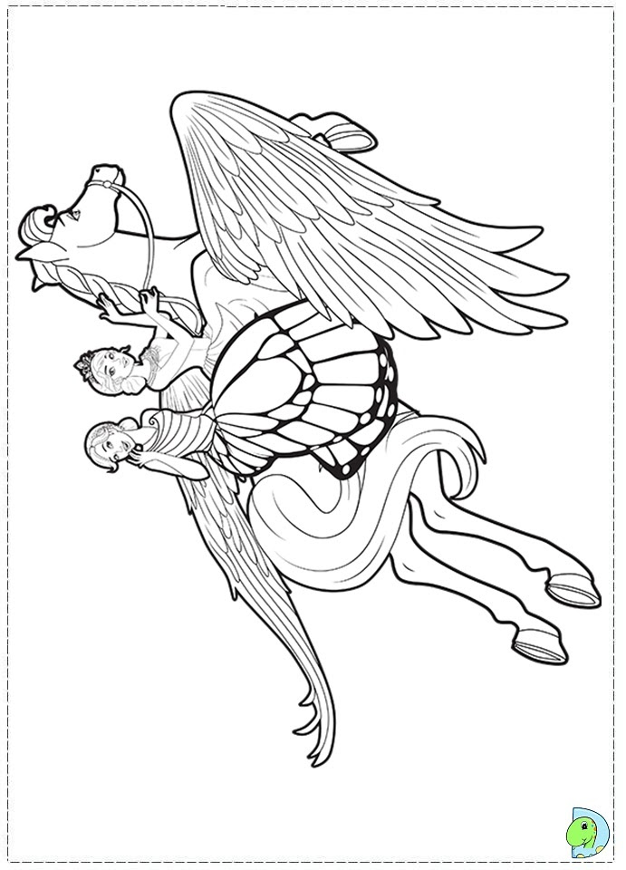 Barbie Mariposa and the Fairy Princess coloring page ...