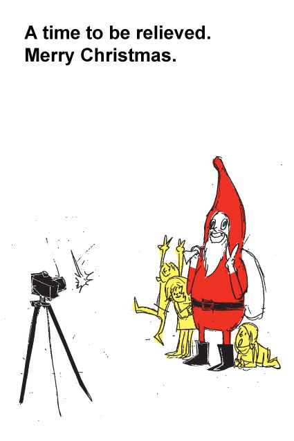 イラストクリスマス ポストカード サンタクロース 手描き 手書き ラフ