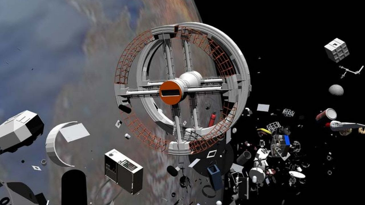 Artist illustration of the junk that exists in space. Image credit: Wikipedia