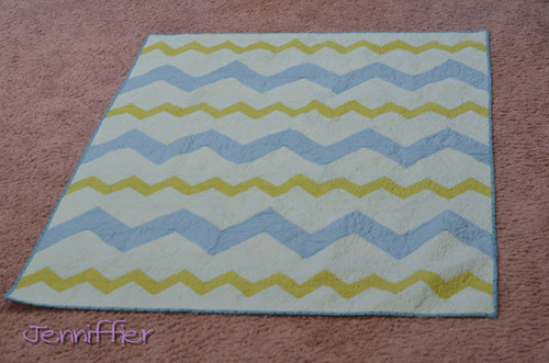 Full Length Zigzagged Quilt