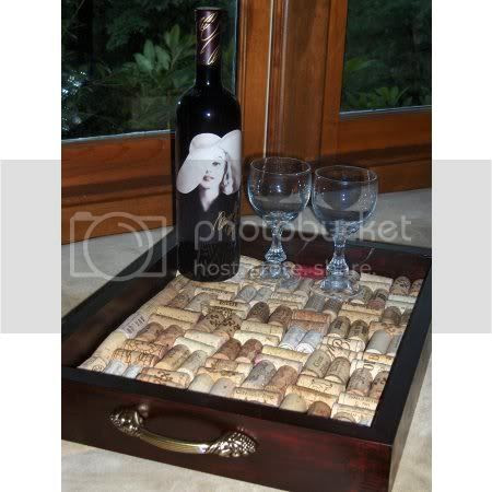 Wine Cork Serving Tray