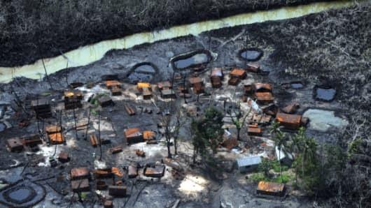 Image result for oil spill in niger delta