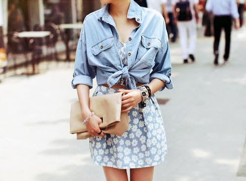 Late in the Day. #trend #floral #denim