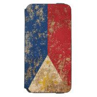 Rough Aged Vintage Filipino Flag Incipio Watson™ iPhone 6 Wallet Case