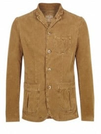 Hartford Camel Washed Cord Patch Pocket Blazer