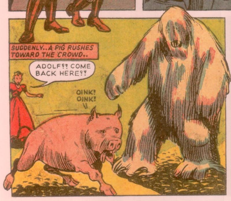 Ho ho ho! They called the pig Adolf!