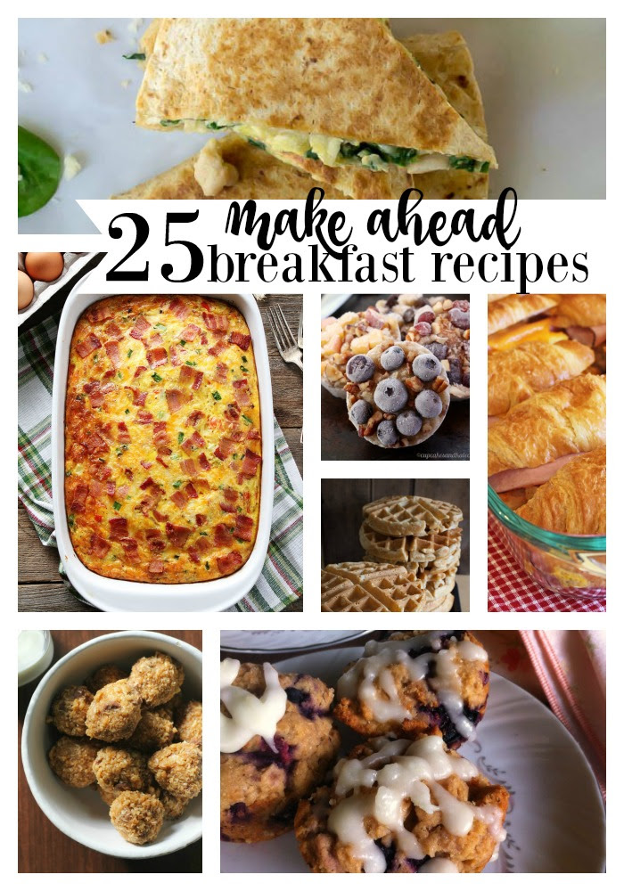 25 make ahead breakfast recipes