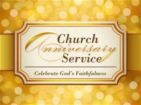 Church Anniversary Letters