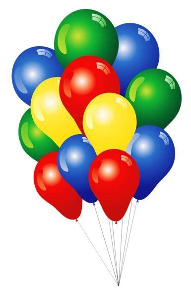 Multicolored Balloons PNG Clipart   Imágenes cumpleaños