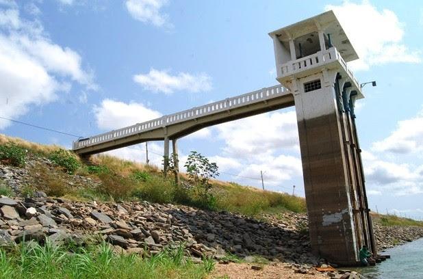 Reservatório Itans, que atende a região Seridó, está com nível de 12% da capacidade total (Foto: Sidney Silva)