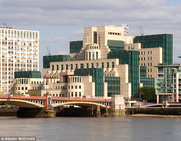 New workplace: The 'Target Elimination Specialist' would presumably work out of here, the MI6 HQ near Vauxhall Bridge