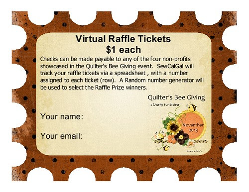 raffle tickets for the quilters bee giving charity fundraiser-001