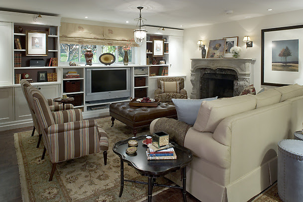 Candice Olson Living Rooms- Transitional - basement - Candice Olson