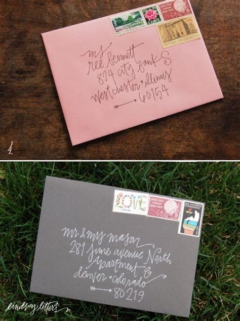 Creative envelop addressing  Love when people turn every