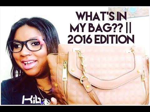 What's In My Bag?? || 2016 Edition