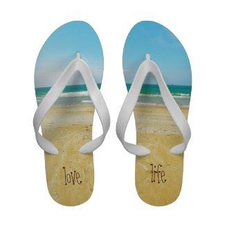 Love Life Beach Flip Flops