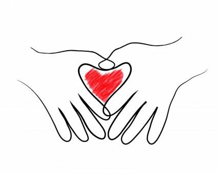 Tangan Menggambar Bentuk Hati Vektor Jantung Vektor Gratis Download