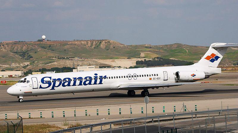 MD-82 da Spanair tinha problemas no reverso.Tal qual Fokker 100 em 1996 e A320 em 2007 ambos da TAM