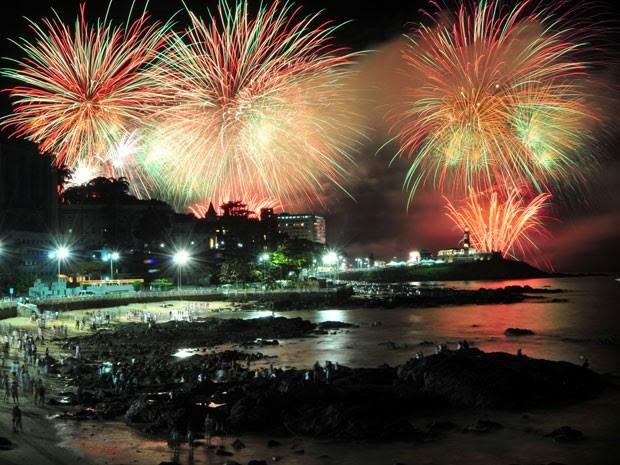 Ano Novo réveillon Salvador Bahia queima de fogos (Foto: Jota Freitas/Divulgação)