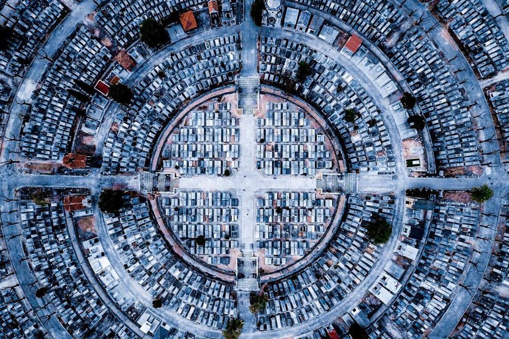 Третє місце в категорії «Місто».  Знімок з назвою «Спокій» був з делан над Мадридом в Іспанії