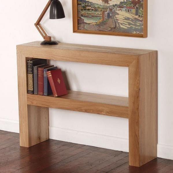 Nero Solid Oak Console Table
