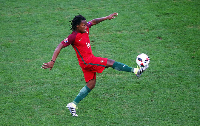 Portugal's Renato Sanches in action during the Euro 2016 quarter-final match against Poland