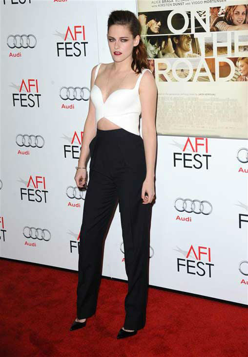 Kristen Stewart appears at the 'On The Road' screening in Los Angeles, California on Nov. 4, 2012.