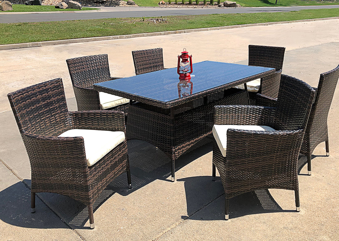 MODERN OUTDOOR FURNITURE SET DINING TABLE - MODERN AND ...