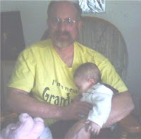 Ana sleeping on Grandpa